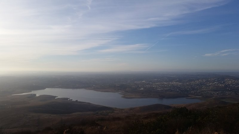 View over the Sweetwater Reservoir from the summit of Mother Miguel Mountain