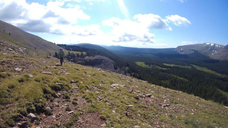 Hiking around Leidy Peak