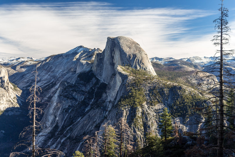 Half Dome from across Yosemite Valley