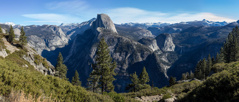Half Dome panorama from south of Glacier Point