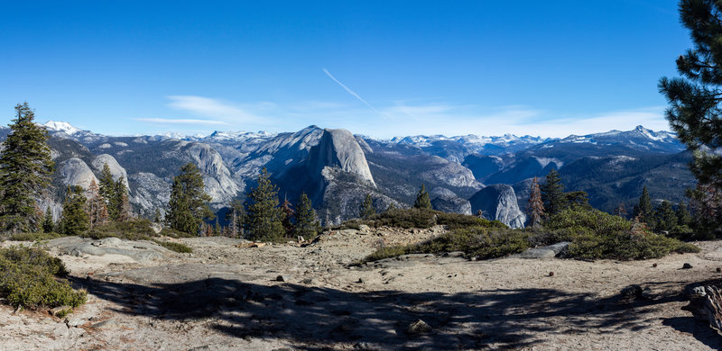 Half Dome panorama from Sentinel Dome Trail