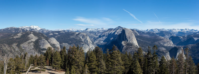 North Dome and Half Dome from Sentinel Dome
