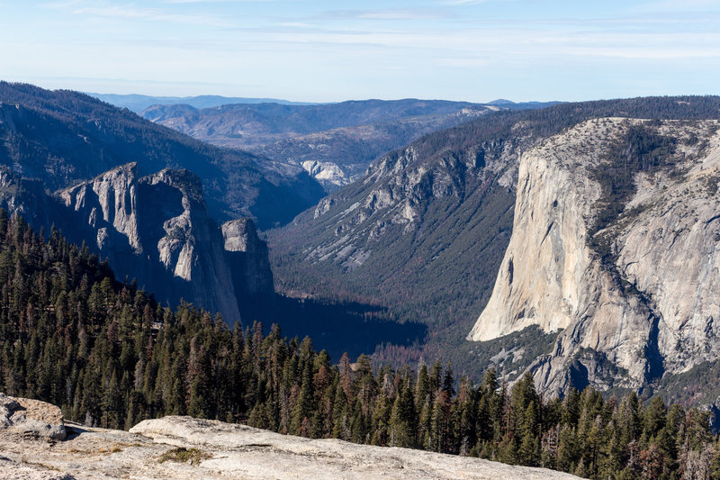 El Capitan and Yosemite Valley from Sentinel Dome
