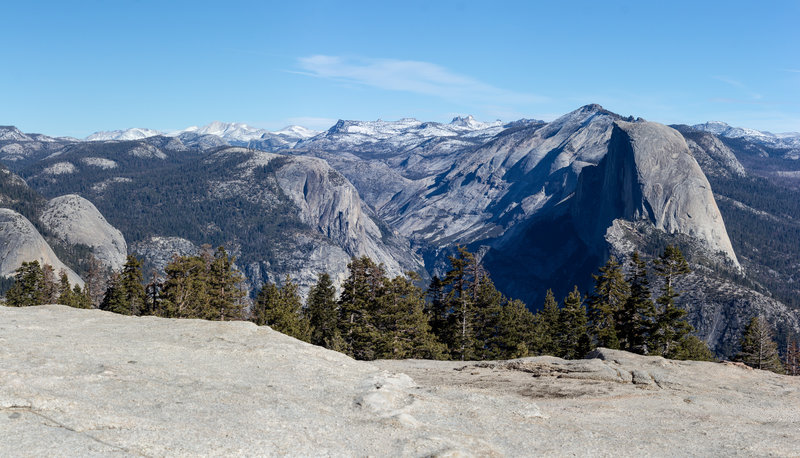 Mount Watkins and Half Dome from Sentinel Dome.