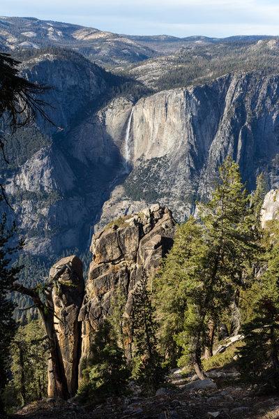Upper Yosemite Falls from Pohono Trail