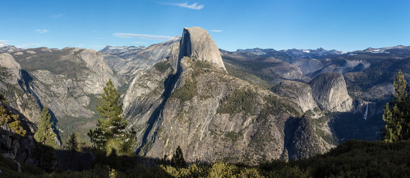 Half Dome from Glacier Point Amphitheater before sunset