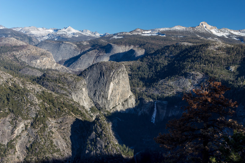 Liberty Cap and Nevada Falls from Glacier Point