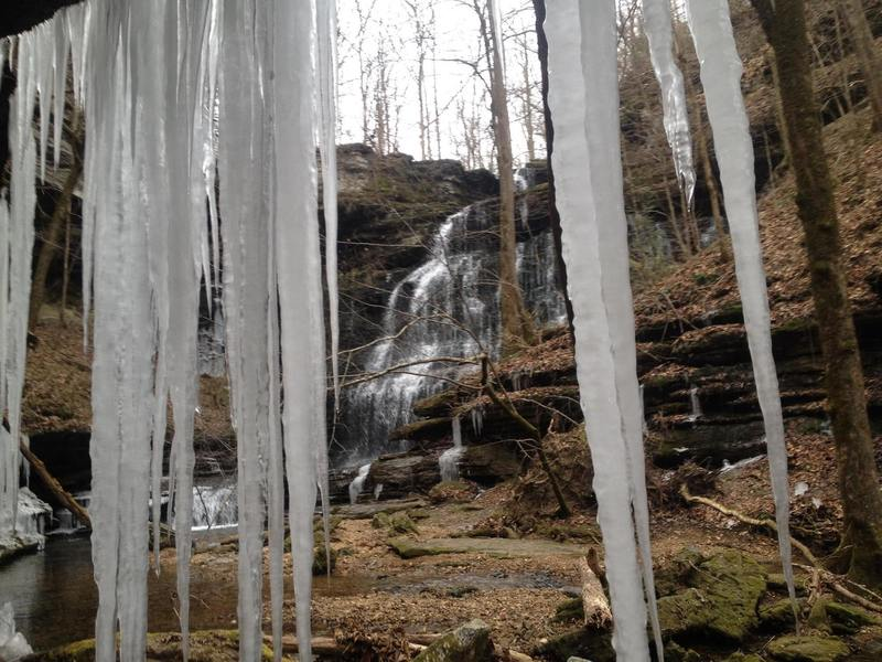 Machine Falls in the winter (normally more water)