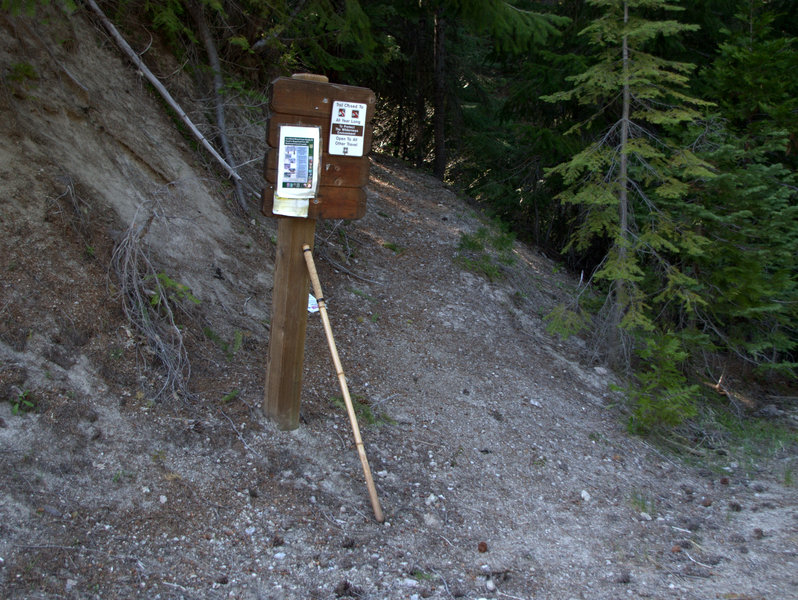 The #1044 trailhead on Forest Road 6540-700
