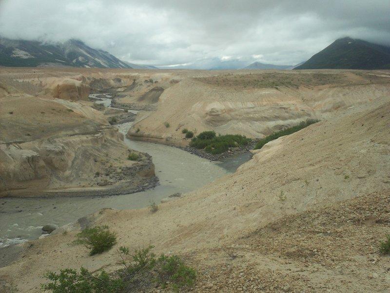 Ukak River running through Valley of 10,000 Smokes - Katmai National Park