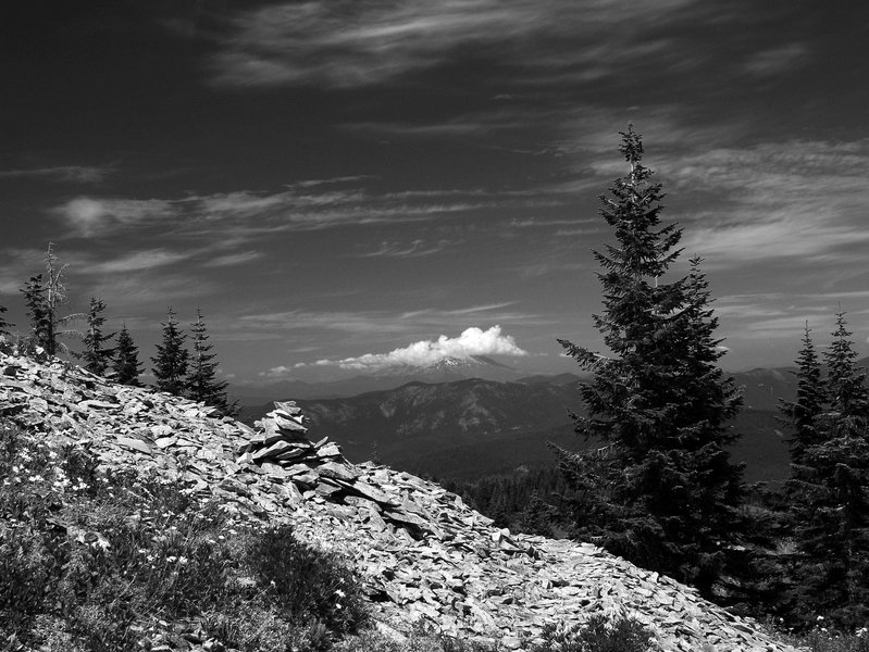 Mount St. Helens from Point 3977