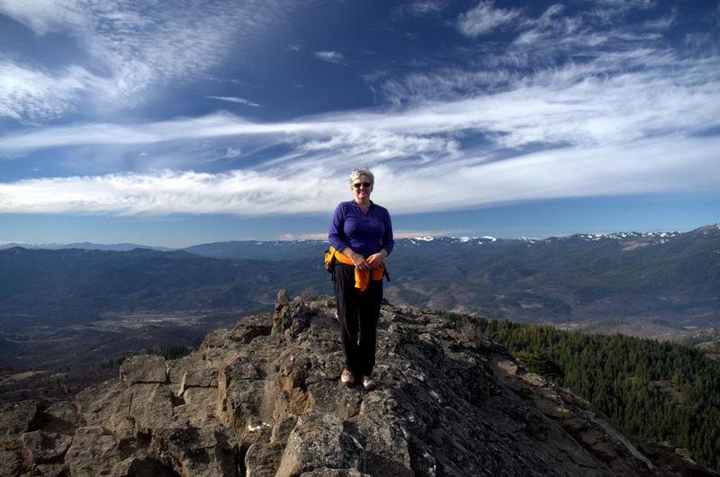 On the summit of Pilot Rock