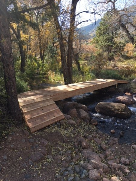 """Bridge crossing over West Monument Creek on the """"green"""" route of the Falcon Trail"""