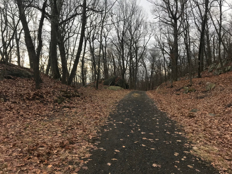Typical fall section of Goat Trail