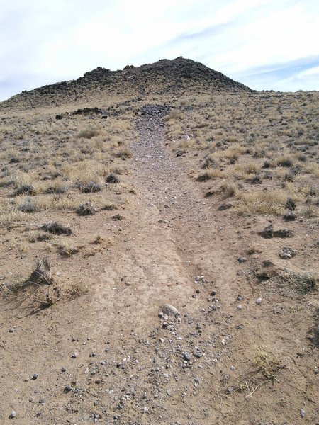 """Approaching a chunky section leading up to the south or """"JA"""" volcano."""
