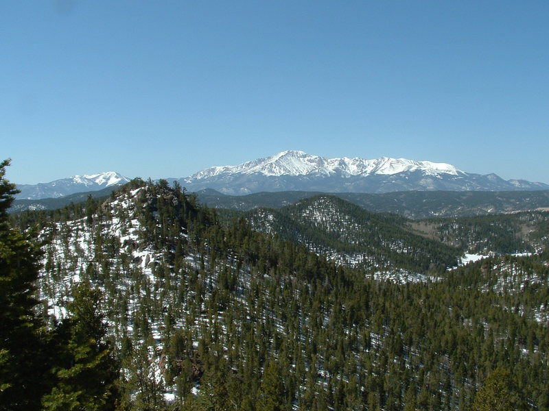 View to Pikes Peak