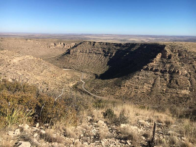 Overlook of Sitting Bull Falls Recreational Area