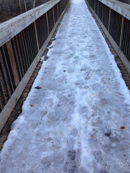 A RARE December snow for Georgia made the bridge a bit tricky!!