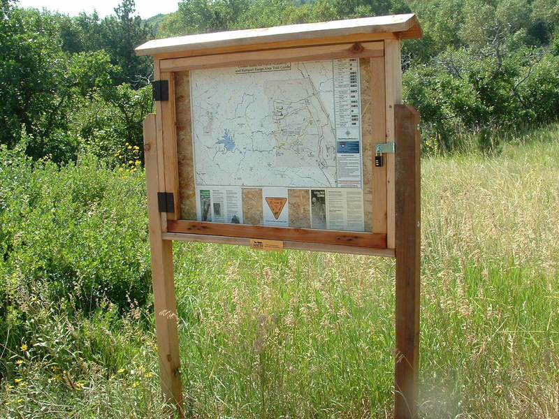 Trail kiosk along the Falcon Trail