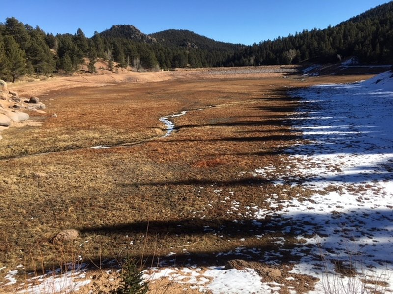 Drained Stanley Reservoir - December 2017