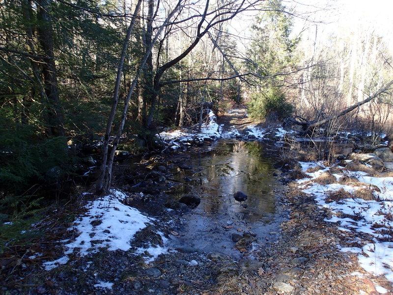 One of three stream crossings
