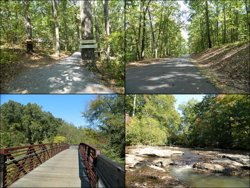 Images of the trails around the Gwinnett Environmental Heritage Center