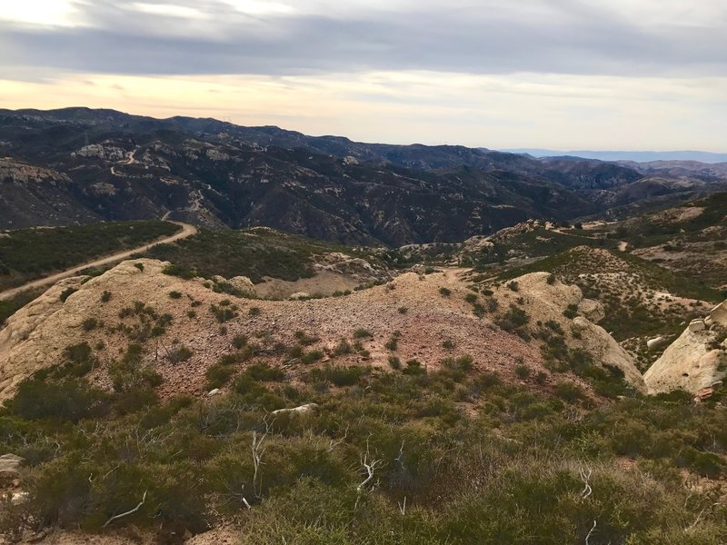 End of Coal Canyon trail, and looking into Fremont Canyon