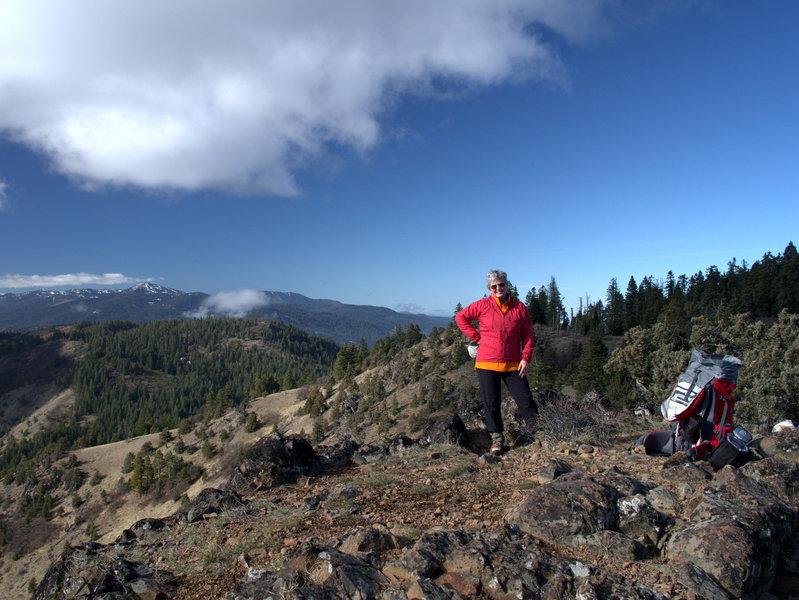 On Boccard Point, Mount Ashland on the horizon