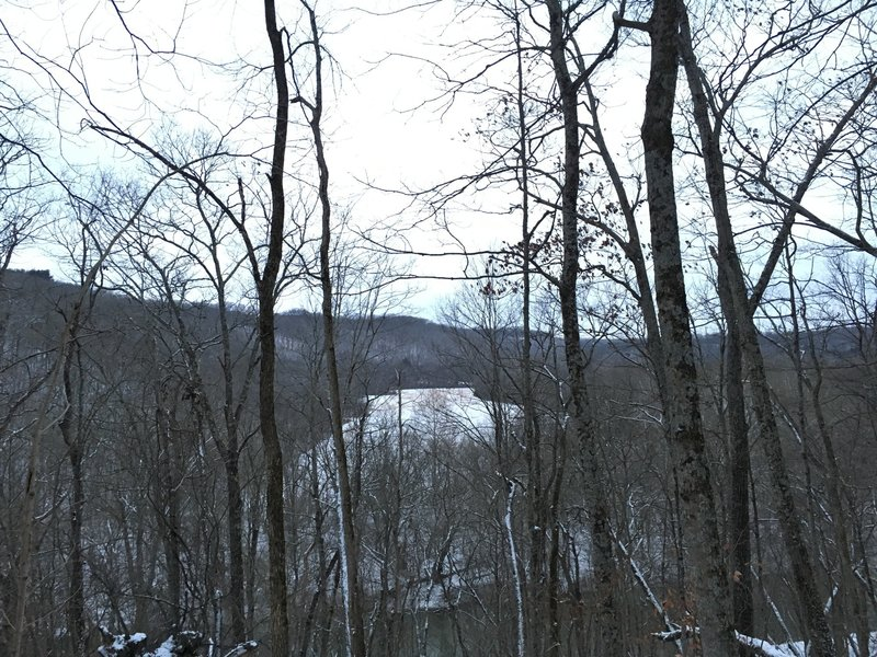 Little Miami River and Farmland in the Valley View