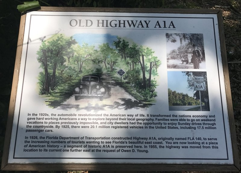 Old Highway A1A information information board