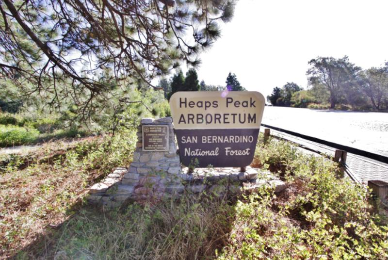 Sign Marking the Heaps Peak Arboretum