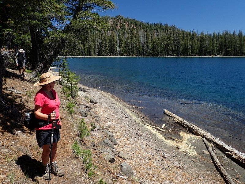 On the shores of Lower Twin Lake