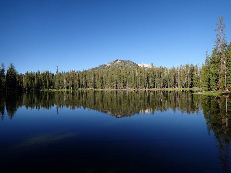 Summit Lake with Lassen Peak on the far horizon