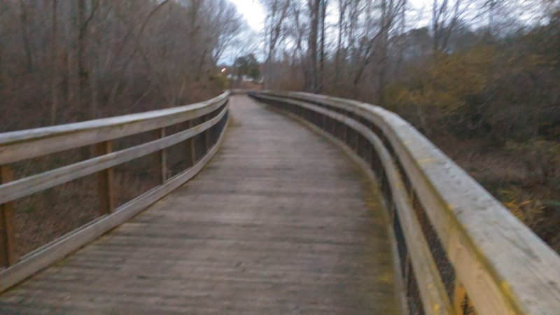 Bridge on Walnut Creek Trail over a wetland