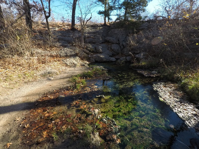 Water flowing from Antelope springs.
