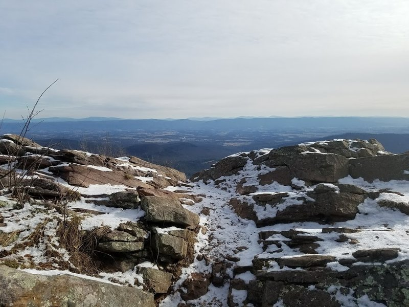 View into eastern valley in the wintertime.