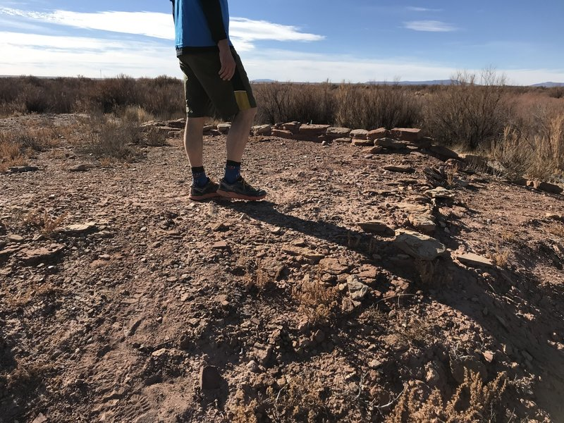 At the Homolovi I Ruins. Lots of wall traces and pottery sherds. Please be respectful.