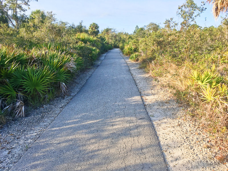 Upland paved trail near where the airfield was once located.