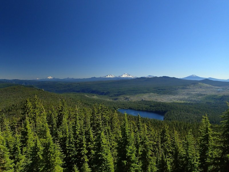 The Cascade Crest and the Three Sisters from Waldo Mountain