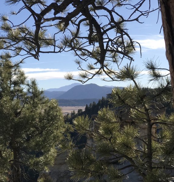 A southern view from Spruce Mountain....Pikes Peak in the distance