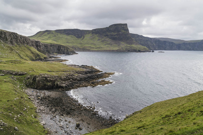Cliffs and rocky beach near Neist Point
