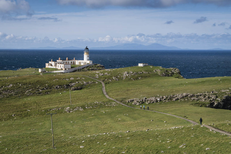 The trail to Neist Point Lighthouse
