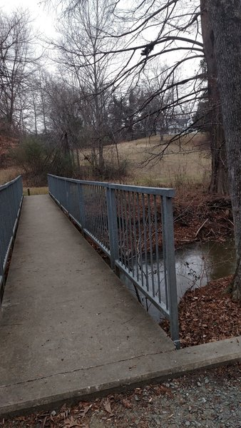 Paved bridge to cross Rock Creek on Rock Creek Trail