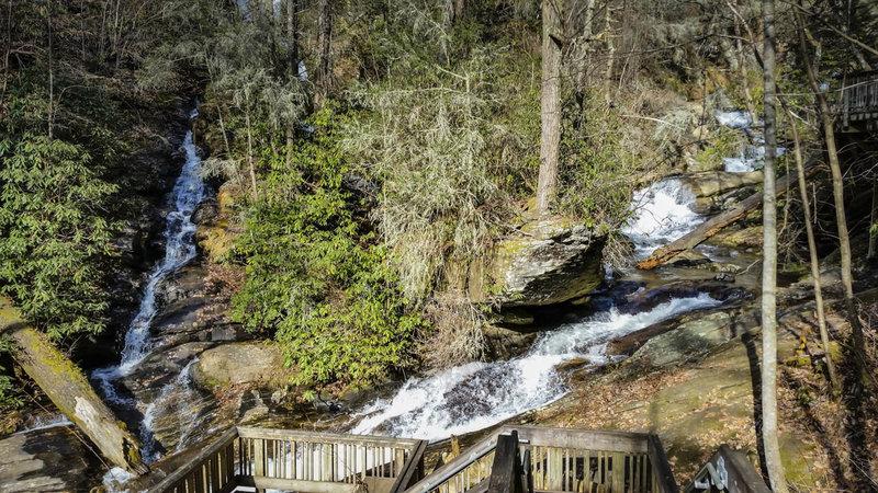 Dukes Creek Falls (left) and Dodd Creek Falls (right)