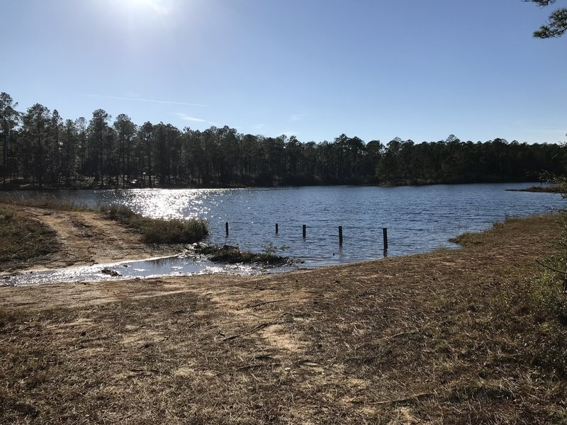 Spillway on the POW camp lake