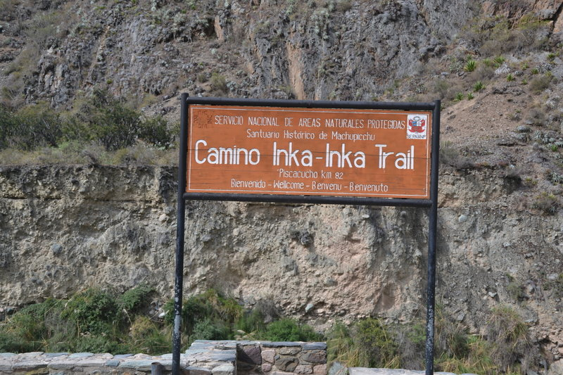 Starting spot of the Inca Trail.  KM 82