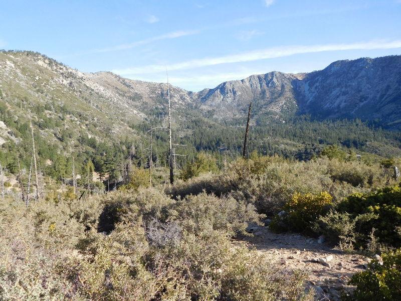 Crystal Lake Basin with Islip Ridge (left) and Hawkins Ridge (right)