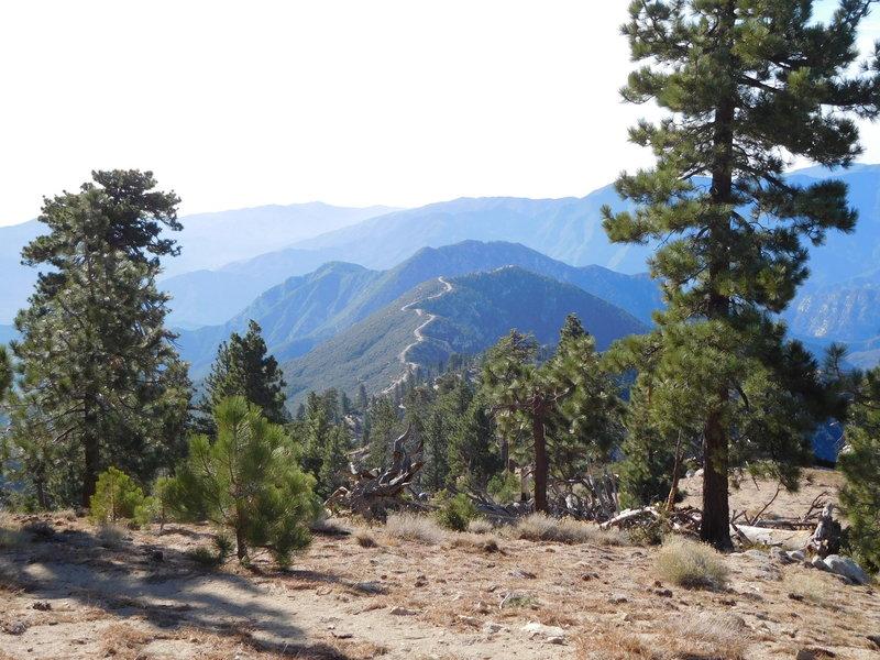 Looking south towards Smith Mountain (center, beyond firebreak)