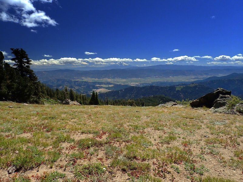 Mount Shasta and the Scott Valley from the ridge