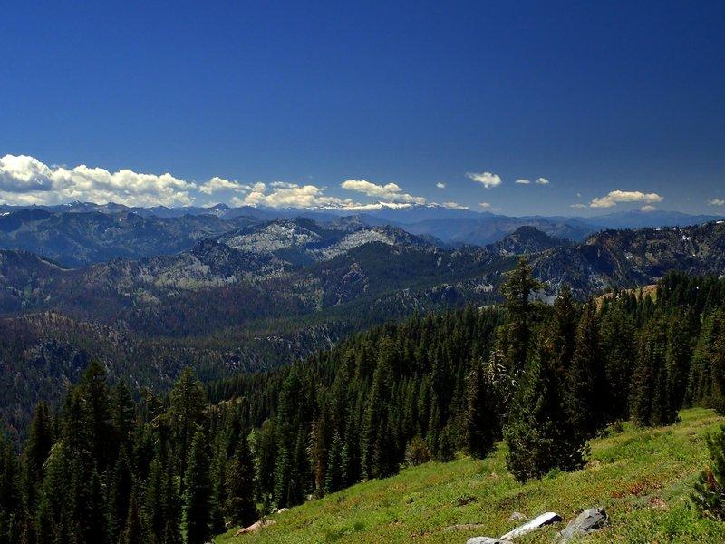 The Trinity Alps from the ridge